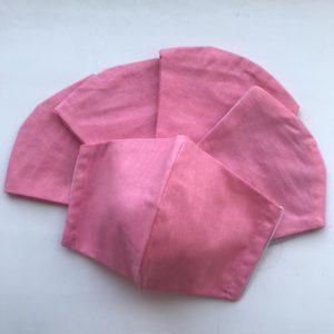 Маска «Респиратор» 2-х слойная розовая