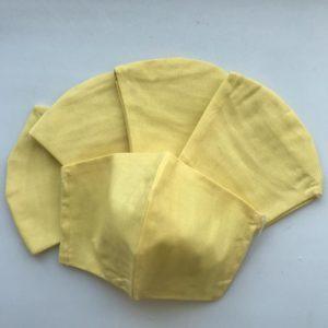 Маска «Респиратор» 2-х слойная желтая