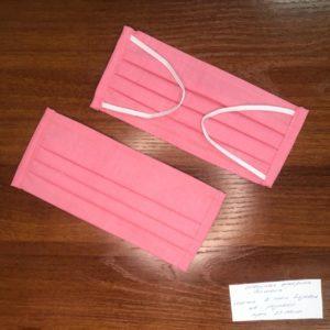 Маска розовая 4-х слойная