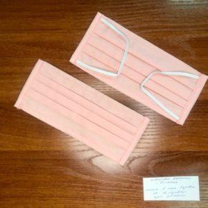 Маска св. розовая 4-х слойная